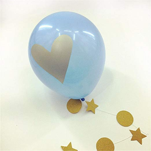 It's A Boy Theme Party Decoration for Boy ,Paper Pom poms,It's A Boy Bunting Banner Decor Flags,'Mommy to Be' Sash,10pcs balloons - 副本