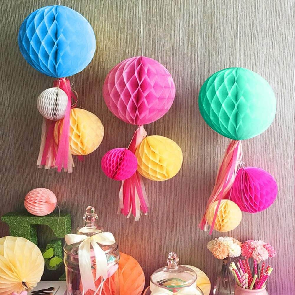 rainbow honeycomb tissue paper party balls - 副本