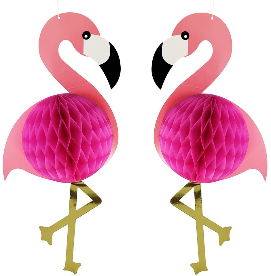 Flamingo Honeycomb Hanging Decorations