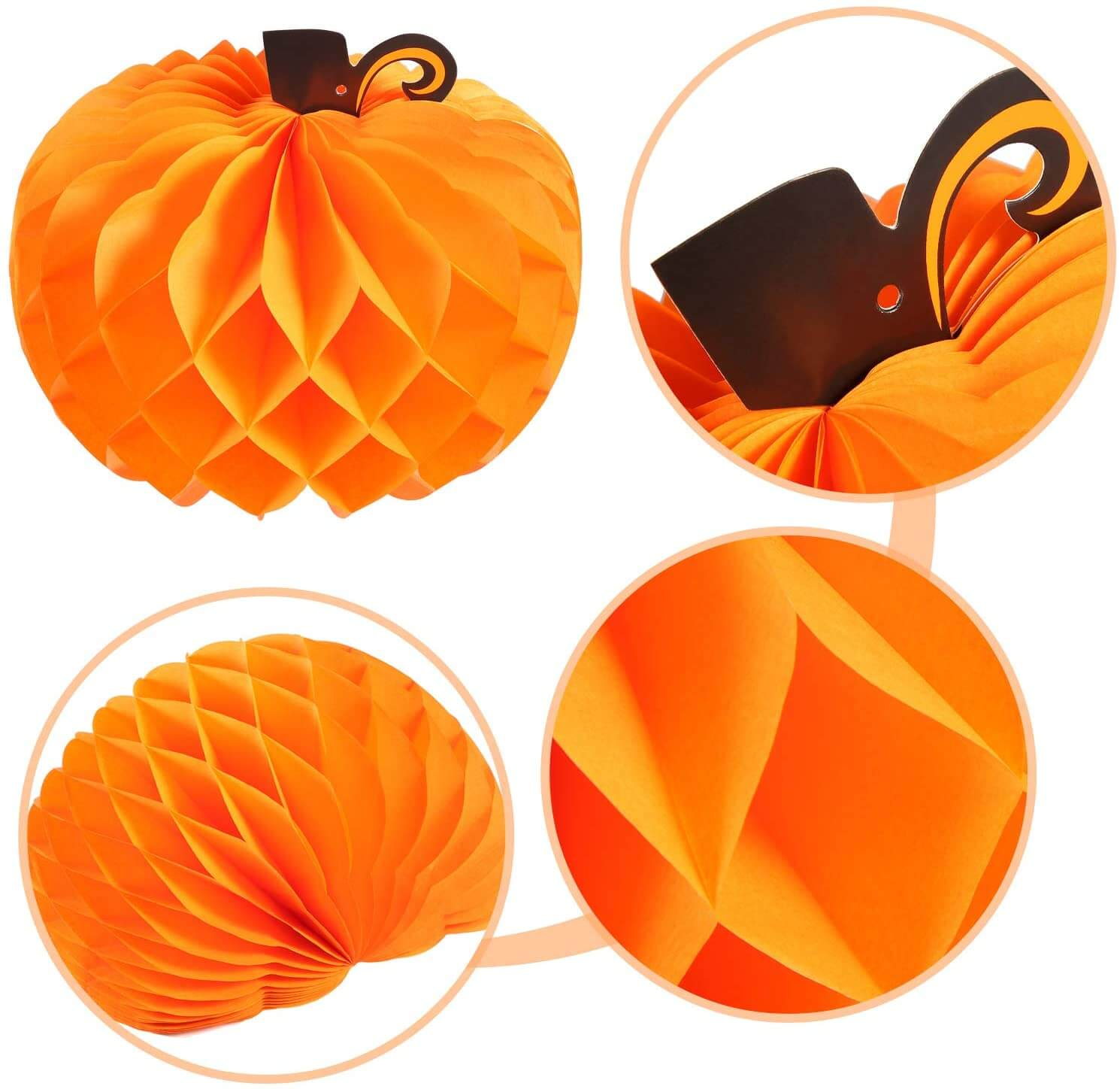 Pumpkin Honeycomb Centerpieces