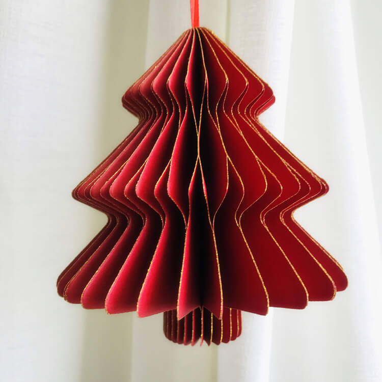 Red 3D Christmas tree decoration