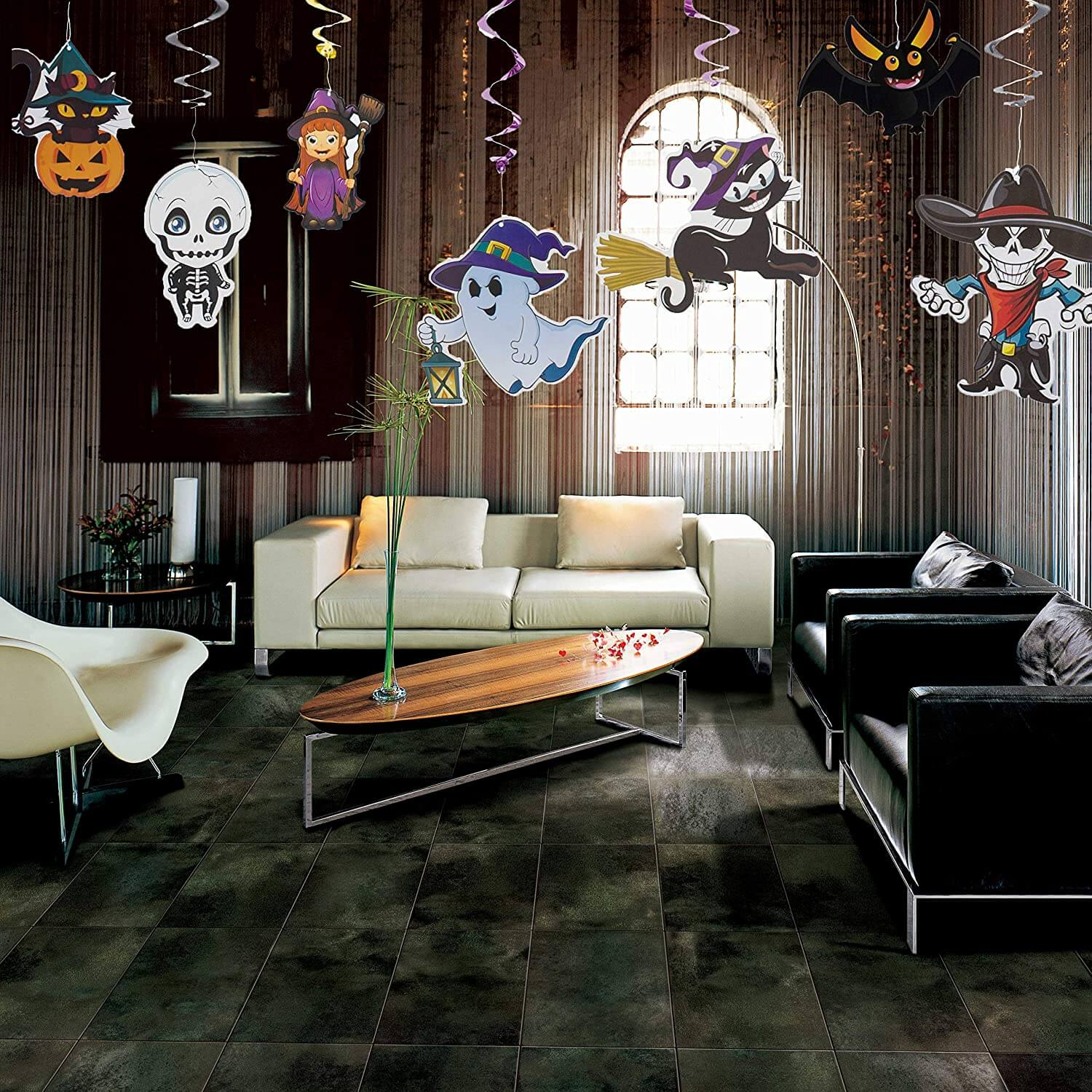 Halloween Swirl Ceiling Hanging and Wall Decoration