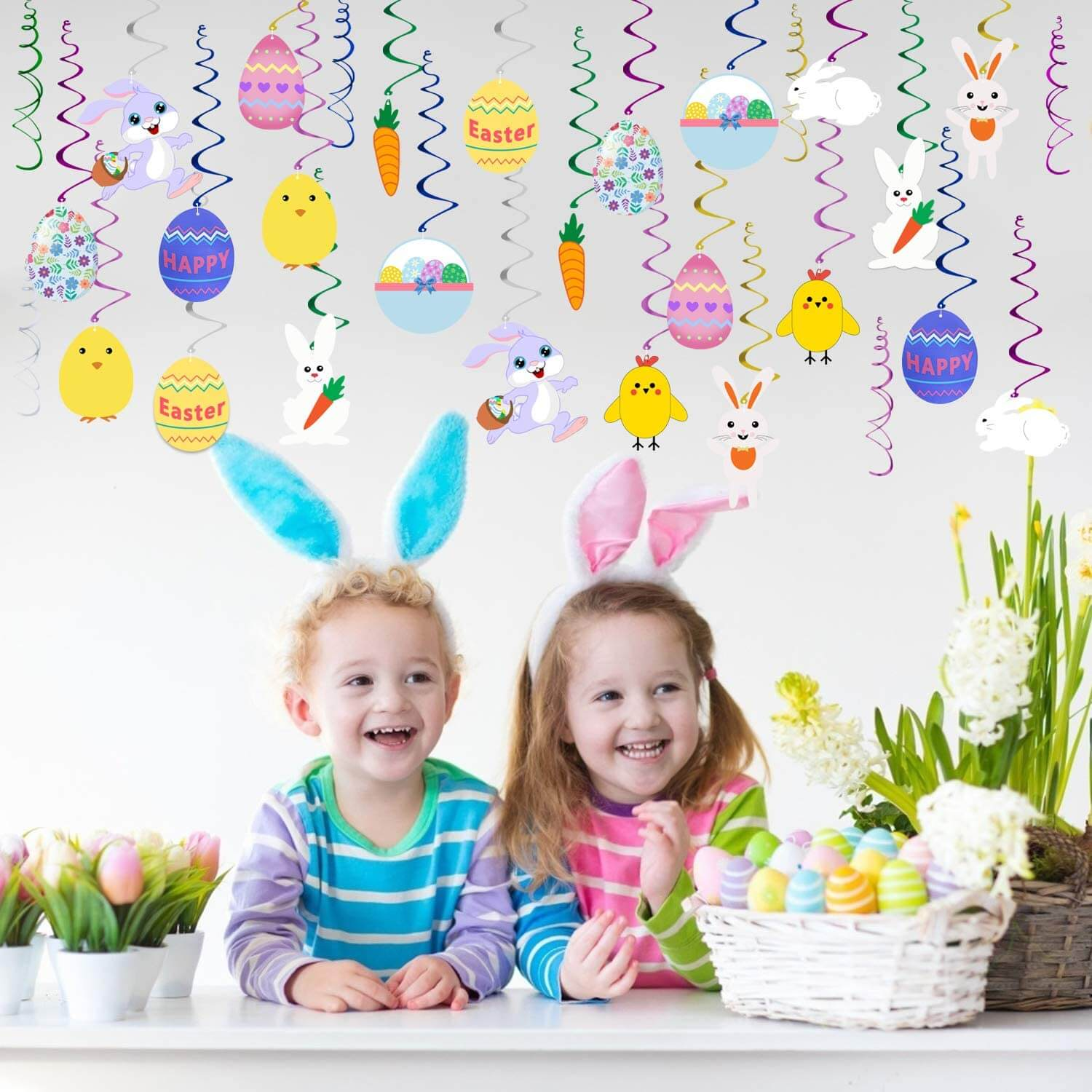 Easter Hanging Swirl Decorations
