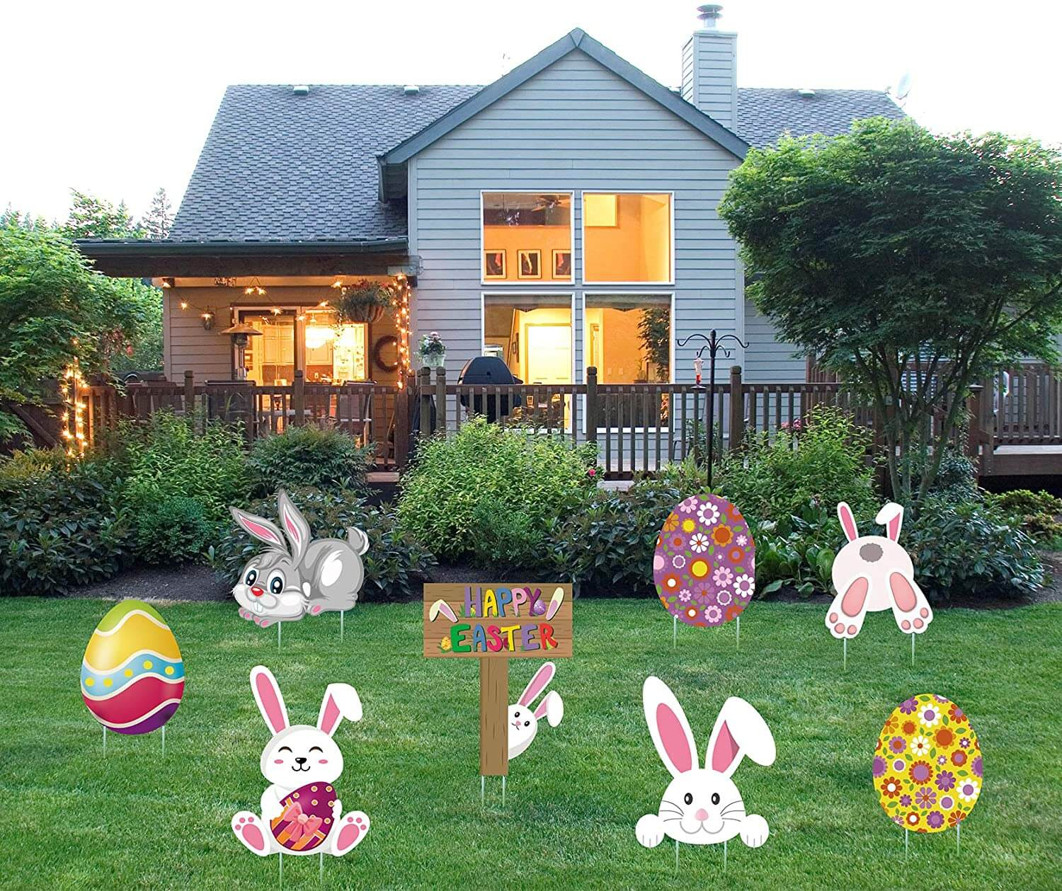 Easter Yard Signs Decorations Outdoor Bunny