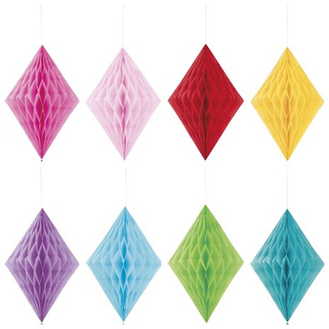Diamond Tissue Paper Decoration, 14 Inches, Party Supplies