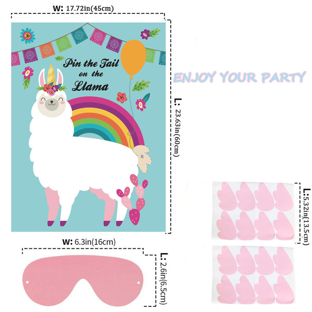 Pin The Tail On the Llama Party Decorations