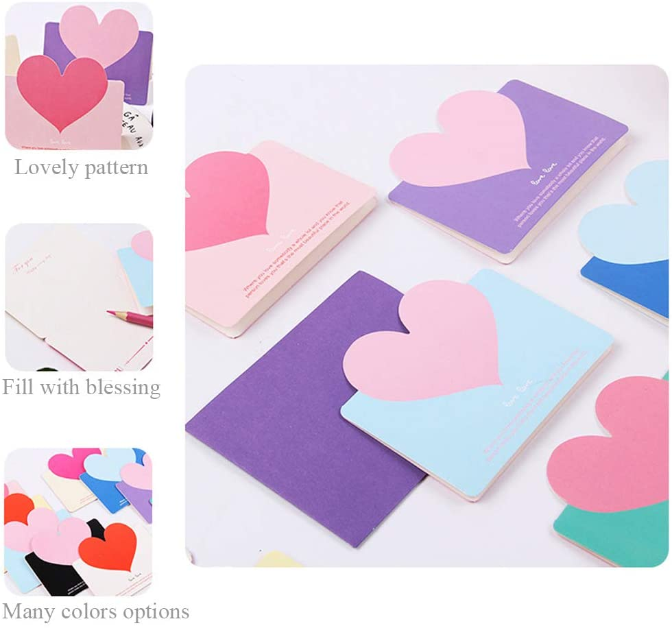 Greeting Cards (Envelope Included) with Foldable Heart Shape