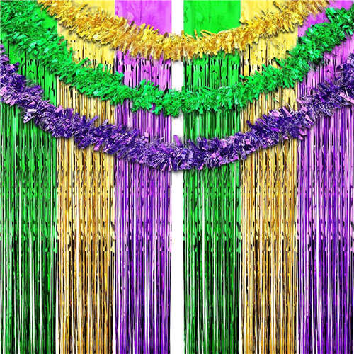 Mardi Gras Fringe Curtains Shimmer Curtain