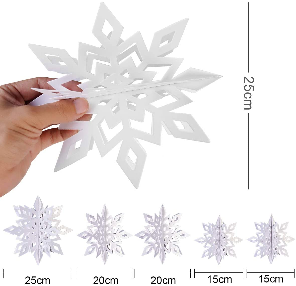 3D  White Snowflake Hanging Decorations